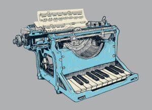 Macchina da scrivere come un pianoforte